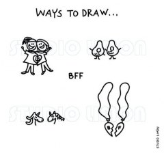 Ways-to-draw-BFF ©️studiolimon.com