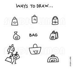 Ways-to-draw-Bag ©️studiolimon.com