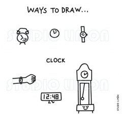 Ways-to-draw-Clock ©️studiolimon.com