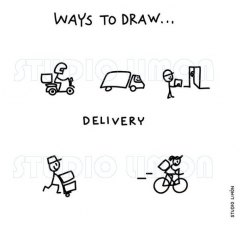 Ways-to-draw-Delivery ©️studiolimon.com