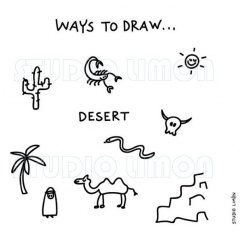 Ways-to-draw-Desert ©️studiolimon.com
