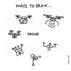 Ways-to-draw-Drone ©️studiolimon.com