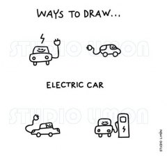 Ways-to-draw-Electric-car ©️studiolimon.com