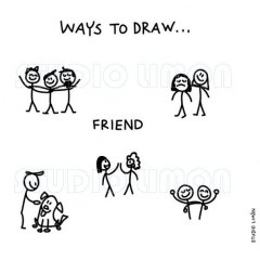 Ways-to-draw-Friend ©️studiolimon.com