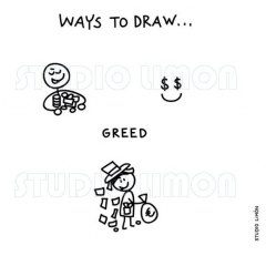 Ways-to-draw-Greed ©️studiolimon.com