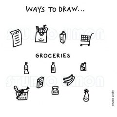 Ways-to-draw-Groceries ©️studiolimon.com