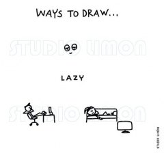 Ways-to-draw-Lazy ©️studiolimon.com
