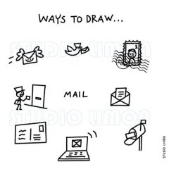 Ways-to-draw-Mail ©️studiolimon.com