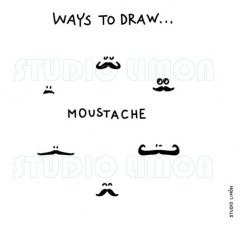 Ways-to-draw-Moustache ©️studiolimon.com