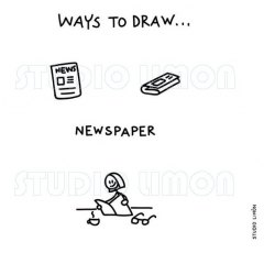 Ways-to-draw-Newspaper ©️studiolimon.com