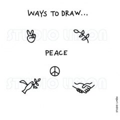 Ways-to-draw-Peace ©️studiolimon.com