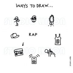 Ways-to-draw-Rap ©️studiolimon.com